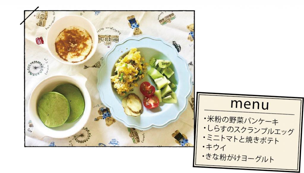 子どもの朝ごはん 野菜の朝ごはん