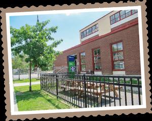 幼稚園と小学校が併設する校舎