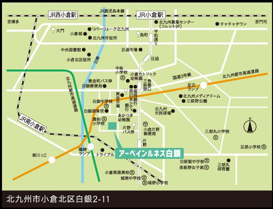 UR賃貸住宅 小倉北区白銀Map