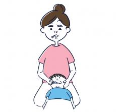 仕上げ磨き_変顔
